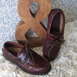 SPERRY TOP-SIDER MEN'S BROWN LEATHER BOAT SHOES